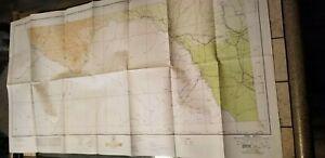 "VINTAGE RARE 1941 SECTIONAL AERONAUTICAL CHART MAP DEL RIO, TEXAS 45""X24"" !!!"