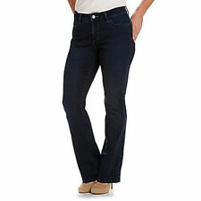 Lee Mid-Rise Regular Size Dark Wash Jeans for Women