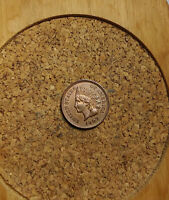 """1907 Indian Head Cent Penny Old """"TUCK""""  IH128 AU/UNC HIGH GRADE 20 YEARS ON EBAY"""