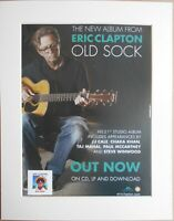ERIC CLAPTON Old Sock 2013 Music Press Poster Type Advert In Mount