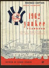 1962 MLB New York Yankees Revised Yearbook VGEX