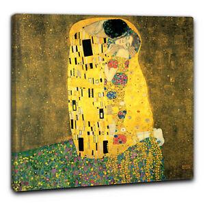 Il Bacio di Gustav Klimt Quadro 60 x 60 cm stampa con telaio (BC)