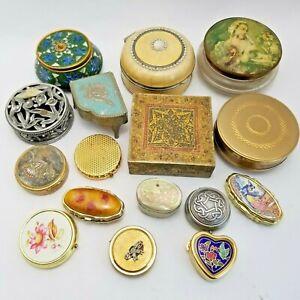 Joblot Collection Vintage Trinket Pots Boxes