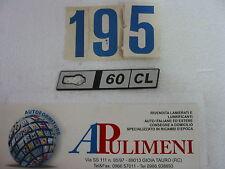 "345/CL FREGIO-LOGO-SIGLA-SCRITTA (BADGE) LATERALE DX FIAT RITMO  ""60 CL"""