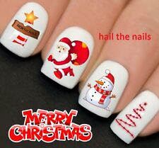 Nails WRAPS Nail Art Water Transfers Decals Christmas Santa North Pole Y768