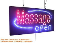 Massage Open Sign Neon Sign LED Open Sign Store Sign Business Sign Window Sign