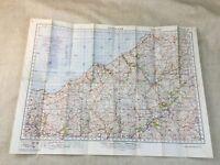 WW2 Militare Mappa Di Galles Lampeter Guerra Ufficio Raro Cancelled Copia