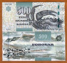 Faeroe Faroe Islands 500 Kronur 2011 (2012) P-32 UNC > Crab