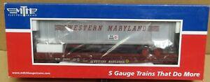 MTH 35-76007 Western Maryland Flat Car #2622 w/48' Trailer (Smooth) S-Gauge NIB