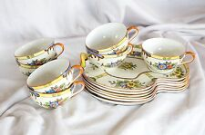 Vintage Noritake China Hand Painted Yellow Floral Snack Set