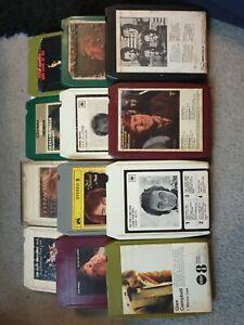 Bundle 8 Track Cartridges Cassettes Tapes X 12 Job Lot