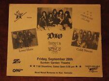 Ronnie James DIO San Antonio TX 1990 Concert Flyer/Poster rainbow black sabbath