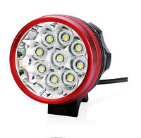 Rechargeable 15000LM 9x CREE XM-L T6 LED Headlamp Headlight Front Bicycle Light