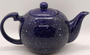 Blue Speckled Ceramic Teapot
