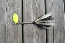 Skunk Tail Musky Lure 10 inch 2.5 oz 5/0 hook #7 Blade .045 wire Hand Tied