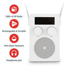Water Resistant Shower Radio DAB + FM Rechargable Bluetooth Speaker