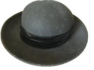 LiteFelt Womens Hat Black Wool Fedora EUC