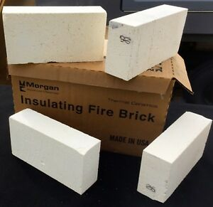 K26 Insulating Firebricks 9 x 4.5 x 2.5 Morgan Thermal Ceramics 2600F Box of 4