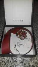 Gucci Belt Hibiscus Red (W.40)