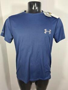 Mens LARGE BLUE Under Armour Compression HeatGear T Shirt Sports GYM TRAINING
