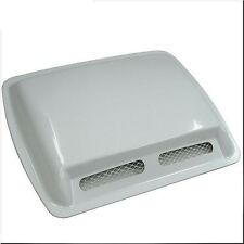 CAR ROOF HOOD AIR FLOW SCOOP DECORATION VENT COVER WHITE