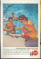 Coca Cola Advertisement - Vintage 1962 Coke Soda Pop Swimming Pool Zing Print Ad