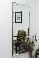 Large Wall Mirror 5Ft10 x 2Ft6 178cm x 76cm Modern Frameless / Leaner Rectangle