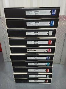 Lot of 10- GerberColor Thermal Foil 4 Gerber Edge Edge 2 Red, Green, Grey