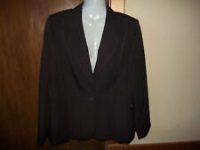 womans brown pinstripe blazer style jacket from marks&spencer size 16 VGood Cond