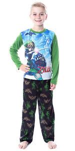 The Legend Of Zelda Boys Link Pajamas Two-Piece Long Sleeve Sleepwear Set