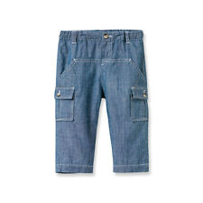 Boys Blue Chambray Pants Size 12 months Brand New