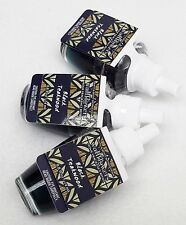 3 REFILLS Bath & Body Works BLACK TEAKWOOD Wallflower Home Bulbs Plug In