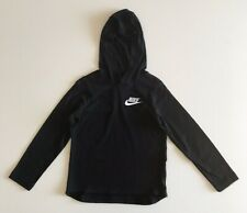 ab25d69fbb25 NEW Nike Boys Black Long Sleeved Shirt Top with Hood Size XS