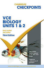 Cambridge Checkpoints VCE Biology Units 1 and 2 by Jan Leather, Harry Leather (Paperback, 2016)
