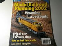 2002 MODEL RAILROAD PLANNING Magazine Wyoming Crossroads Turn inch into a mile