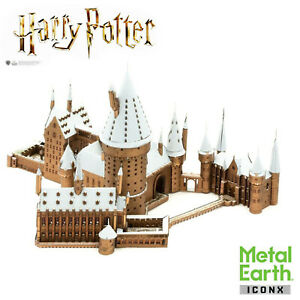 3D Metal Earth Harry Potter ICONX Hogwarts in Snow Puzzle Fascinations New UK