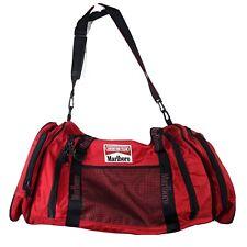 Marlboro Unlimited Vintage Crossbody Duffle Bag Rare Smoker Luggage with Flaws