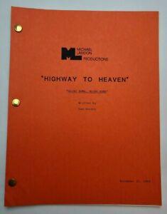 "HIGHWAY TO HEAVEN / 1984 TV Script, John McLiam ""Going Home, Going Home"""