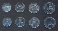 PARAGUAY COMPLETE COIN SET 50+100+500+1000 Guaranies 2008-2014 UNC LOT of 4