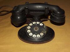 VINTAGE  WESTERN ELECTRIC DESK TOP BLACK  ROTARY TELEPHONE NEEDS REPAIR