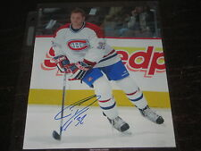 GORDIE DWYER autographed MONTREAL CANADIENS 8x10 photo