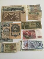 Russia Bank Notes South Russia USSR 1919 1909 1938 1947 1961 1990's