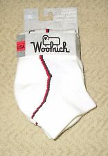 WOOLRICH~XL 12.5-15~WR1844~White Merino Lambswool Ankle Length Day Hiking Socks