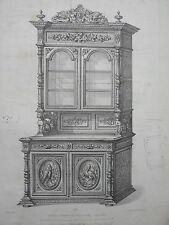 Buffet crédence de salle à manger GRAVURE le MAGASIN de MEUBLES V. QUETIN XIXéme