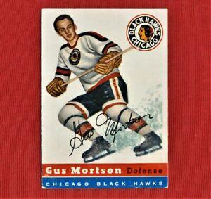 Gus Mortson - 1954/55 - Topps - NHL - Chicago Black Hawks - #17