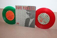 "Dave Parasite 2 color 7"" vinyls red & green Back to Demo 1989-1991"
