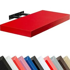 "STILISTA Wandboard ""Volato"" Wandregal CD DVD Regal 110cm Rot freischwebend"