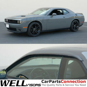 WELLvisors For 2008-2020 Dodge Challenger Window Visors Premium Rain Guards