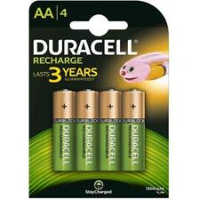 4 x Duracell AA Rechargeable Batteries - 1300 mAh HR6 DC1500 PRE STAY CHARGED