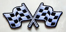 Racing Chess Checkered Finished Flag Embroidered Iron on Patch Free Shipping